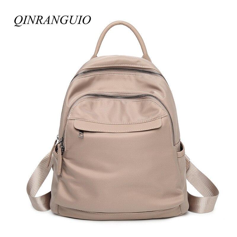 QINRANGUIO Women Backpack 2018 Casual Backpack Travel Bags Mochila Feminina School Bags for Teenage Girls Backpack Women