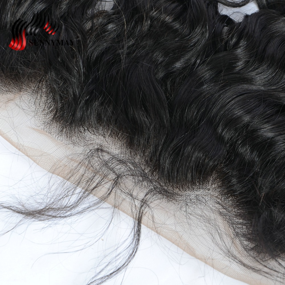 Sunnymay Pre Plucked Lace Closure Frontal With Baby Hair Loose Wave Brazilian Virgin Hair