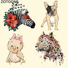 ZOTOONE Patches for Clothes Cute Cartoon Animal DIY Accessory Heat Transfer Ironing Stickers Press Appliqued Irons Kids