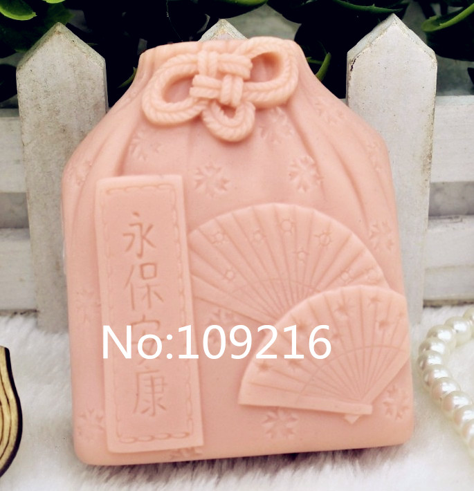 New Product!!1pcs Fan Money Bag (zx168) Silicone Handmade Soap Mold Crafts DIY Mould
