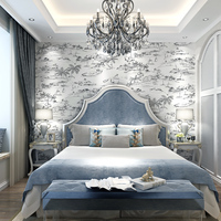 Mediterranean Style Wall Papers Home Decor 3D Saling Boat Wallpaper Roll For Kids Room Contact Paper