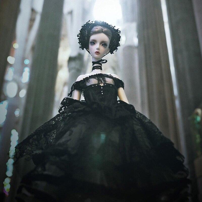 New Arrival 1/4 Black Swan BJD SD Doll 48.5cm Girl Slender Body Free Eye Balls Fashion Shop