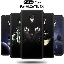 JURCHEN Cover For Alcatel 1X Case Soft TPU 3D Cartoon Silicone Back Cover Case For Alcatel 1C Phone Case 5009A 5059D 5009 5059 смартфон alcatel 1x 5059d black