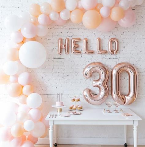 1 комплект 16 дюймов с буквами и цифрами, воздушный шар из фольги hello 30 50 18 цвета розового золота Серебряный цвет золотистый для 30th День рожден...