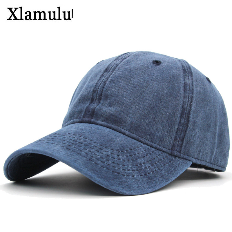 Xlamulu   Baseball     Caps   Hats For Men Snapback Women Casquette Brand   Caps   Washed Vintage Solid Color Bone Men Hat Gorras Letter   Cap