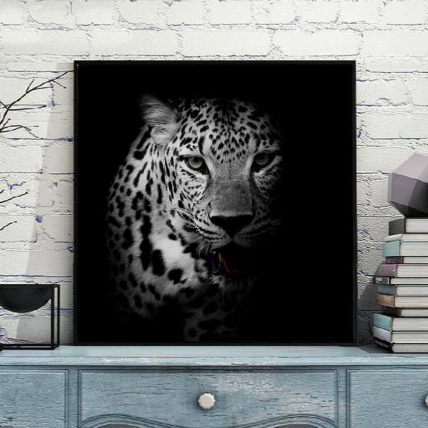 5D DIY 다이아몬드 자수 멋진 레오파드 동물 그림 전체 수지 라인 석 모자이크 키트 라운드 다이아몬드 페인팅 크로스 스티치 장식