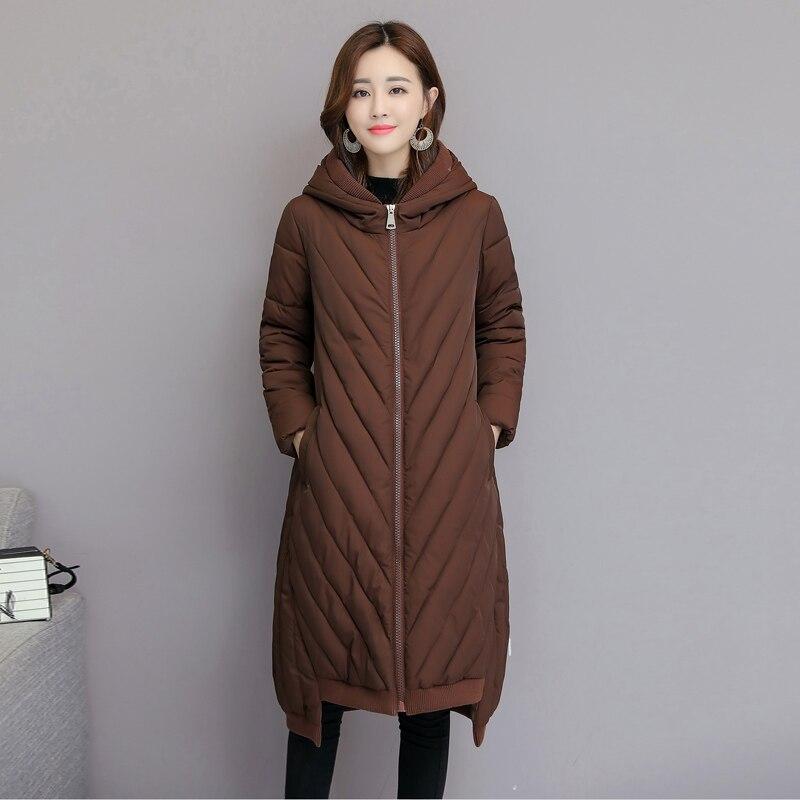 KUYOMENS 2018 New Spring Jacket   Parka   Women Winter Coat Women's Warm Outwear Thin Cotton-Padded Long Jackets Coats High Quality