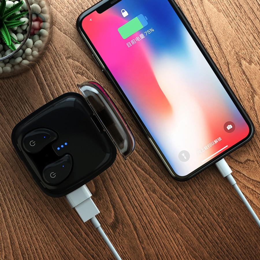 TWS Bluetooth slušalice, GUSGU mini bežični sportski slušalice / - Prijenosni audio i video - Foto 2