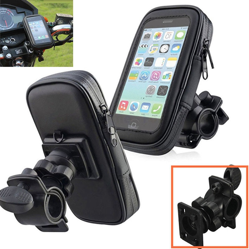 Motorcycle Bike Bicycle Waterproof Phone GPS Case Bag Handlebar Mount Holder Stand For Iphone 7