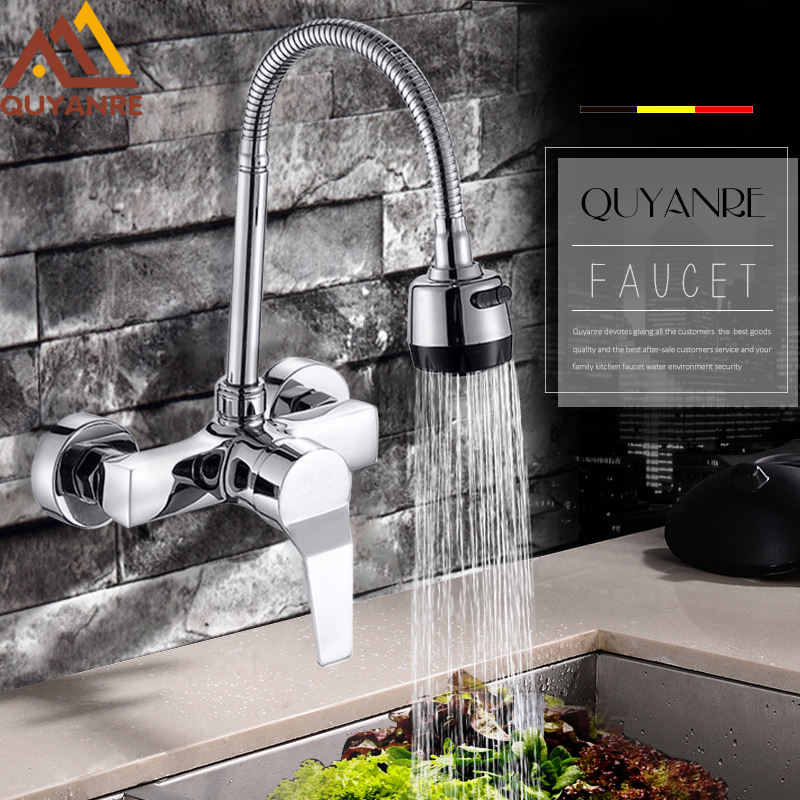 Quyanre Kitchen Faucet Spring Sink Faucets 360 Rotation Single ...