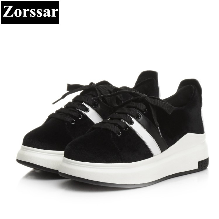 {Zorssar} Brand 2017 NEW Fashion velvet Leisure shoes Women Flat Loafers Female Casual shoes lace up Womens Flats shoes 2016 the new leisure women pointed toes loafers leopard black gray female rivet flat shoes for women s shoes a24