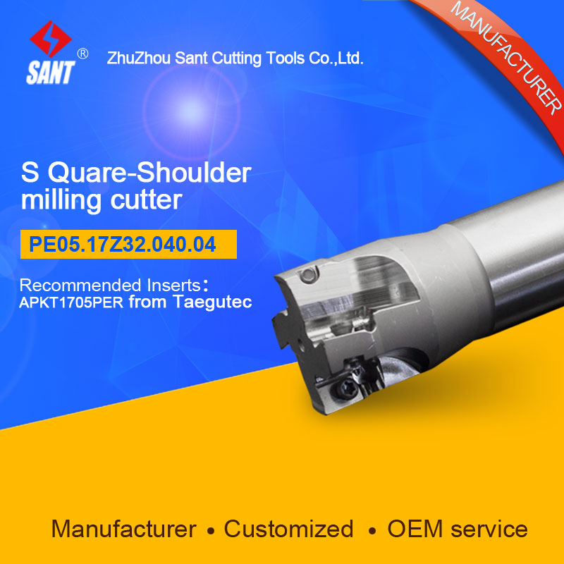 Square shoulder milling cutter Indexable Milling cutter insert APKT1705PER From Taegutec discPE05.17Z32.040.04 hot selling abrod