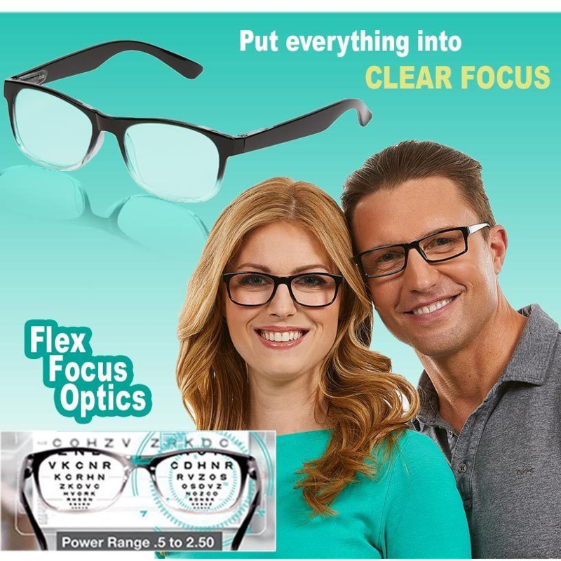 One Power Readers As Seen On TV Eyeglasses Put Everything Into Clear Focus Auto-Adjusting Reading Glasses Drop Shipping