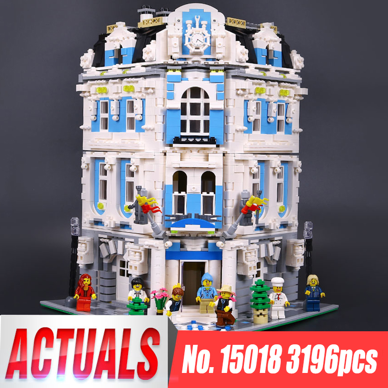 3196pcs Lepin 15018 City Series MOC The Sunshine Hotel Set LegoINGys Building Blocks Bricks Toys Educactional funny toys Gifts цена и фото