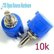 3590s precisão multi-turn potenciômetro 10k qualidade resistor ajustável