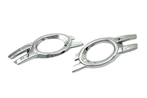 ФОТО High Quality Chrome Front Fog Light Cover (Oval Type) for Mercedes Benz W164 ML Class Facelift ('09-'11)