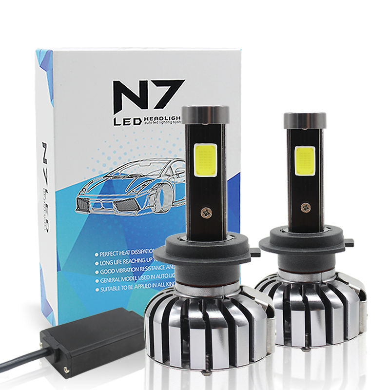 Super Bright H7 H11 LED Car Headlight 80W 8000Lm COB LED All-in-One 6000K Auto Bulb Automobiles Headlamp Car Lighting Head Lamp 2pcs h11 led car headlight head lights lamps waterproof version of x7 automobiles headlamp super bright car styling all in one
