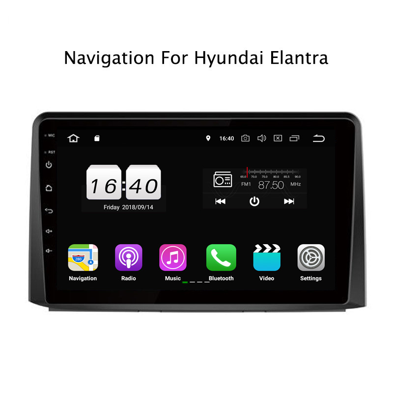 "9"" 2G RAM 16G ROM Android 8.1 Car DVD Multimedia Player For Hyundai Celesta Elantra 2017 GPS Navigation Radio Stereo Audio"