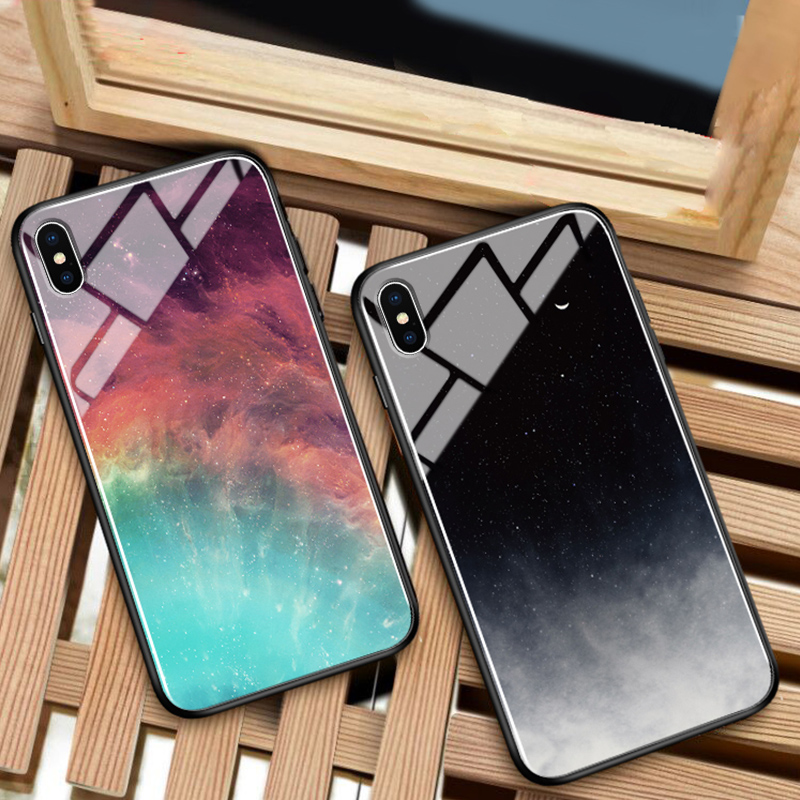 For <font><b>Samsung</b></font> <font><b>Galaxy</b></font> A71 A51 A21 A01 A70 A10 A30 A40 A50 A7 2018 <font><b>Case</b></font> Colorful <font><b>Glass</b></font> <font><b>Case</b></font> For Note 8 9 S10 Plus S9 S8 S20 Ultra image