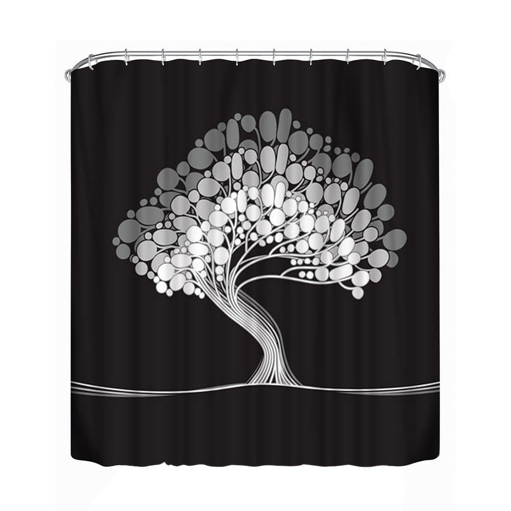 Big Tree Printed Bath Curtain Bathroom Shower Curtain Bathroom Decoration  Waterproof Large Curtain Divider (1