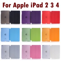 For Apple IPad 2 3 4 Sleeping Wakup Ultral Slim Leather Smart Cover Case For IPad