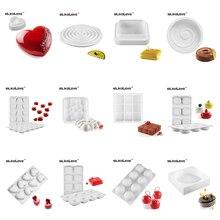 SILIKOLOVE font b Christmas b font Gift Baking Molds Non Stick 3D FDA LFGB Round Square