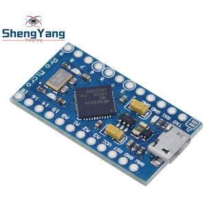 Image 2 - פרו מיקרו ATmega32U4 5V 16MHz להחליף ATmega328 עבור Arduino Pro Mini עם 2 שורת פיני עבור לאונרדו מיני Usb ממשק