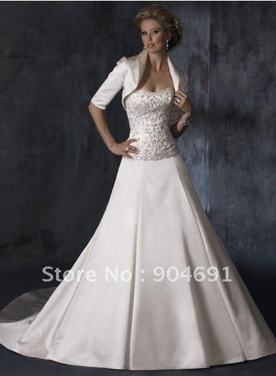 Whole Instock Custom Three Quaters Sleeves White Wedding Dress Accessories For Winter Bridal Bolero