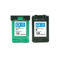 2 шт. для hp 129 135 картриджи для hp deskjet 5943 6943 6983 D4163 2575 D5163 8053 C4183 C4193 D5163 C4193 для hp129 135