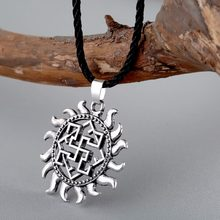 CHENGXUN Rus Amulets and Talismans Necklace Viking Jewelry Slavic Pendant Fern Flower Star Vintage Charm Nordic Ethnic Pendant(China)