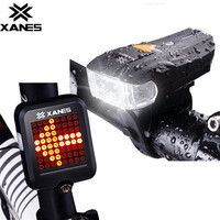 OUTERDO XANES 600LM German Standard Bike Front Light 64 LED Intelligent Brake Warning Bicycle Rear Taillight