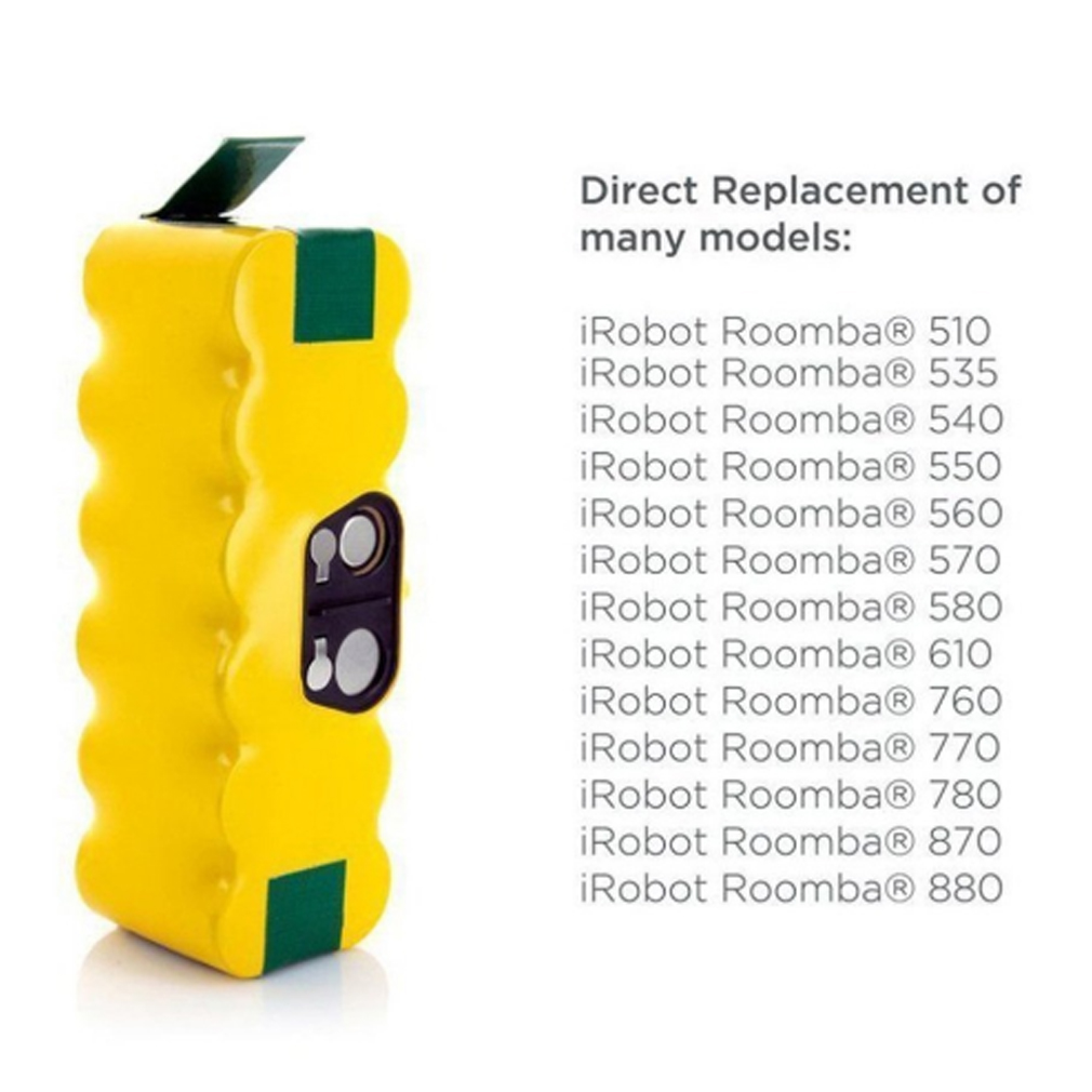 6000mAh Ni-MH Rechargeable Battery for iRobot Roomba 500 600 700 800 900 Series Vacuum Cleaner 600 620 650 700 770 780 800
