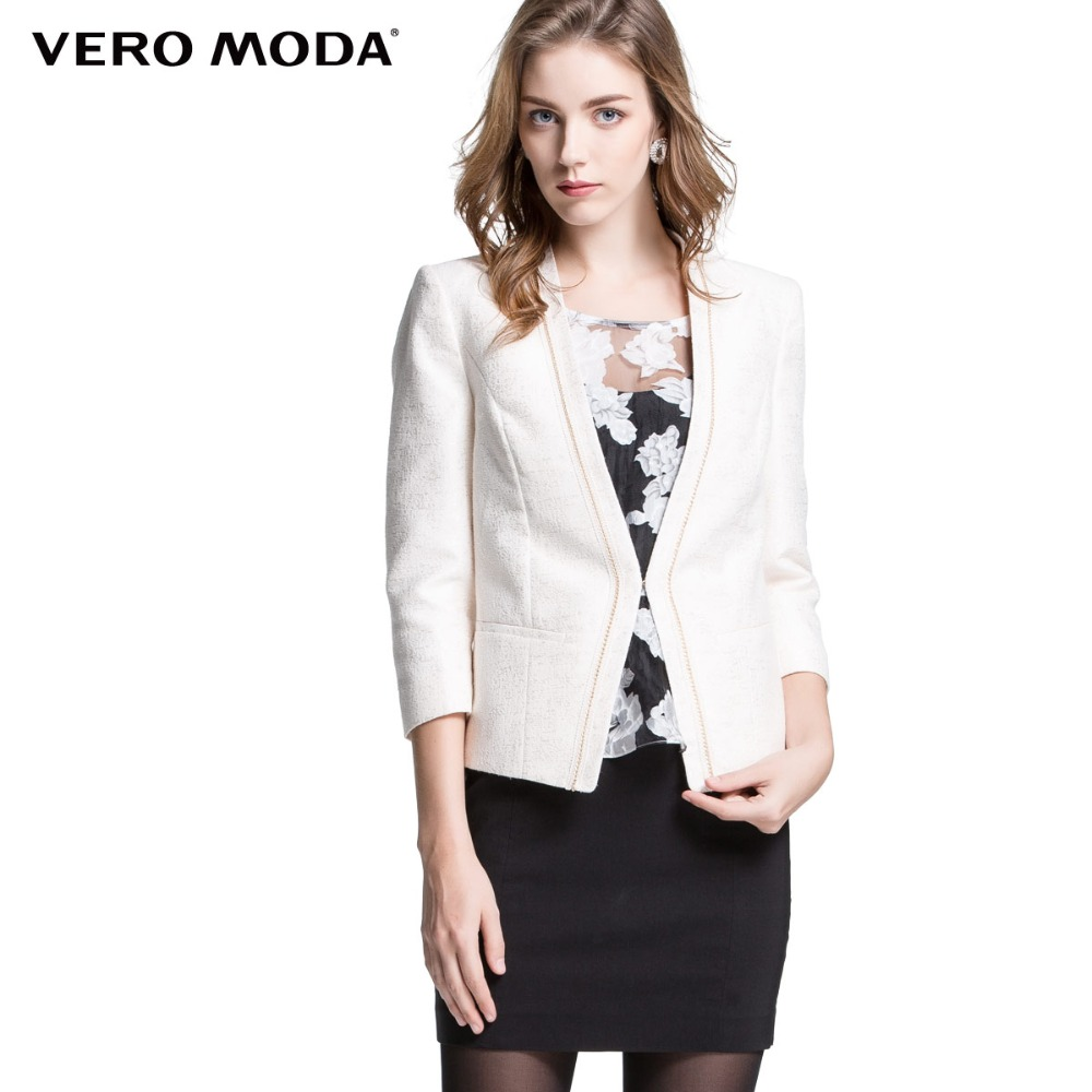 Vero Moda Brand new font b Women b font Slim Work Wear Short Blazer Jacket font