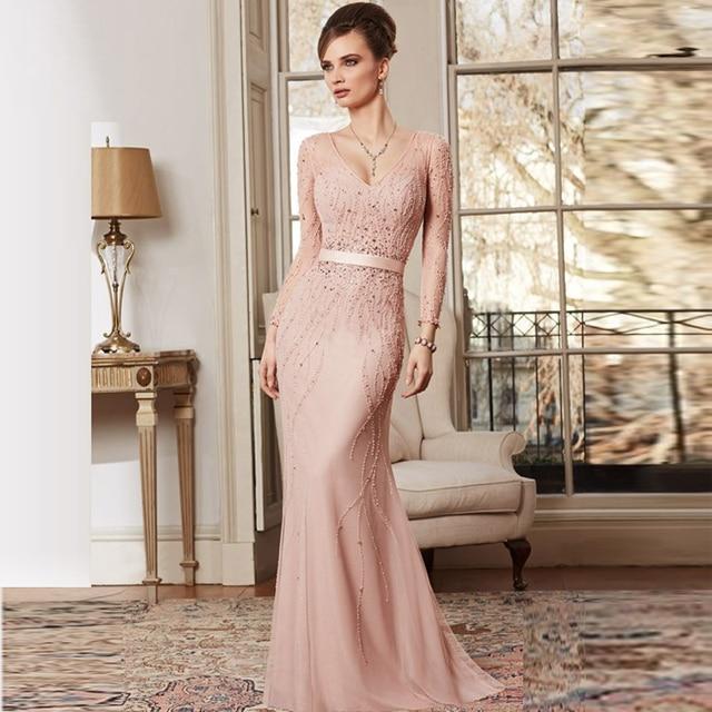 Vestidos de madrina de boda manga larga