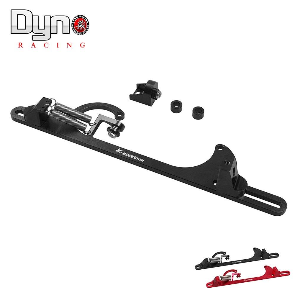 Prix pour Dyno racing-4150 4160 En Aluminium Série Noir Rouge Billet de Gaz Câble Carb Support