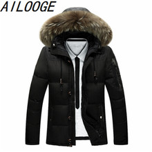 2016 New 90% White Duck Down Mens Jackets And Coat Parkas Thick Warm With Raccoon Fur Collar Hood Jacket Men Winter Coats Casual