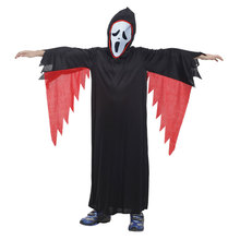 Kids Child Howling Darkness Devil Demon Costumes Scream Ghost Face Costume Robe Scary Halloween Carnival Party Outfit