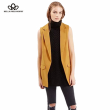 2016 Autumn winter new fashion simple solid color no button short black white wine red yellow blazer jackets