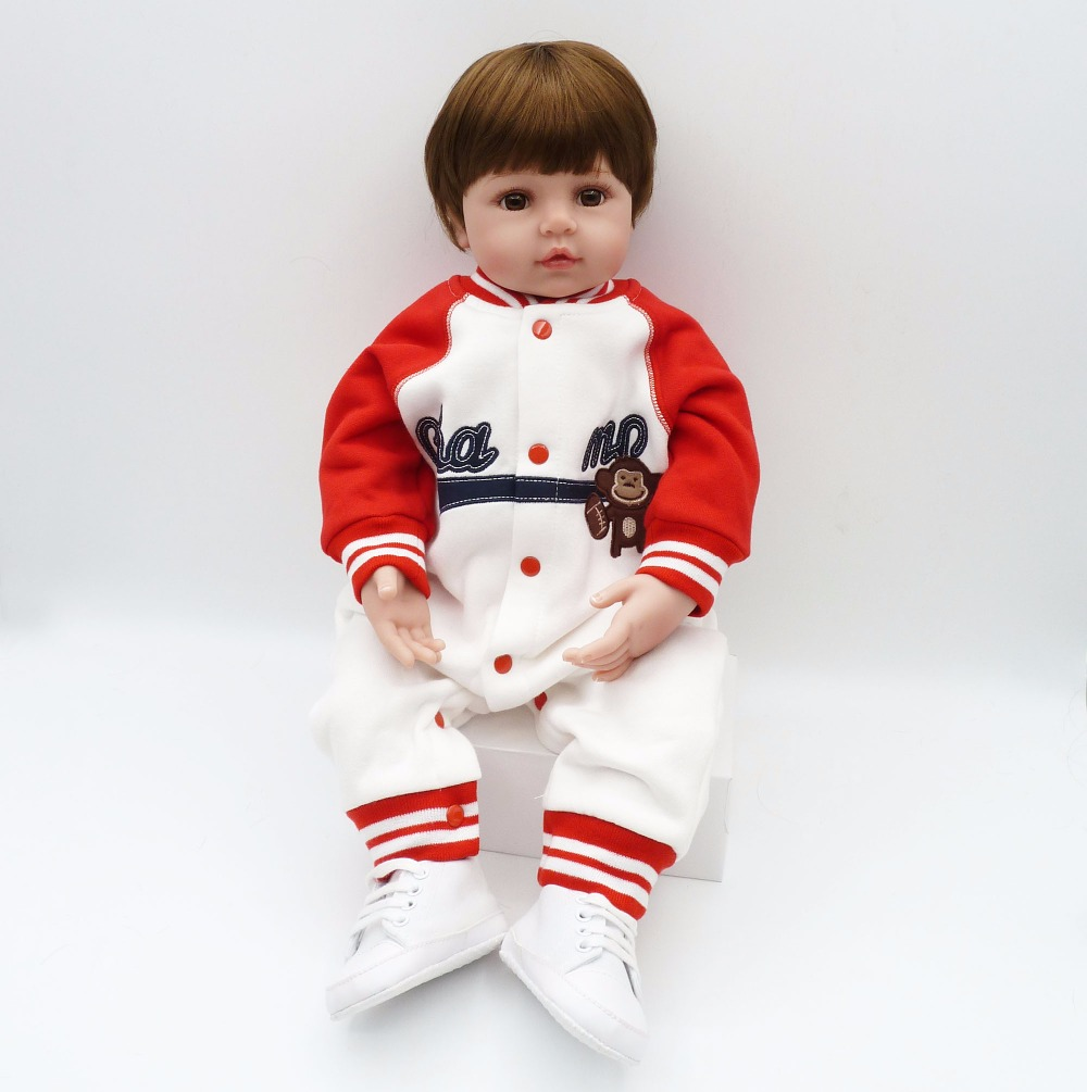 NPK COLLECTION silicone baby dolls short hair best toys and gift playmates toys on Birthday and Christmas стоимость