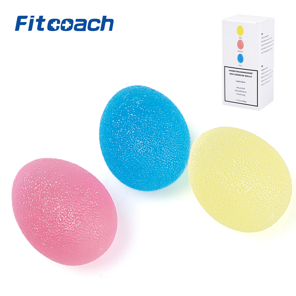 Finger och Grip Förstärkningsterapi Stressbollar, 3 Colors - Fitness och bodybuilding