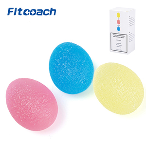 Finger and Grip Strengthening Therapy Stress Balls,3 Colors Resistance Squeeze Eggs,Home Exercise Kits Hand Exercise Balls