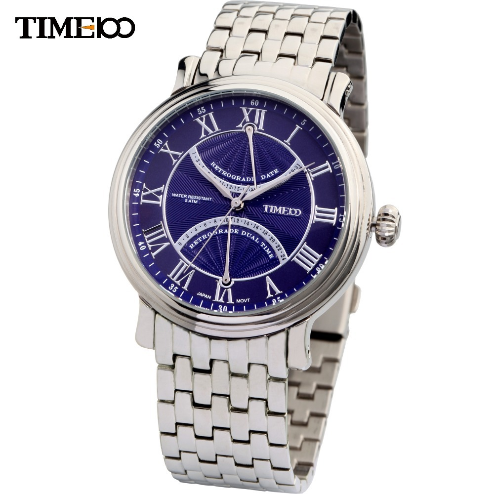 New Arrival Fashion Time100 Famous Brand Full Steel Wristwatch British Classical Roman Numerals Men Quartz Watches #W80005G.01A