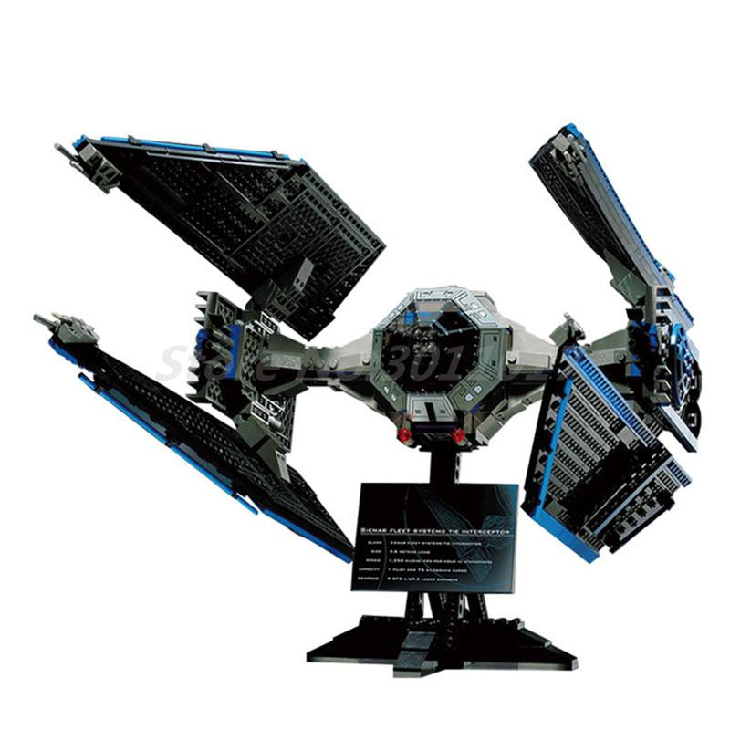 Lepin 05044 Star Plan Series Limited Edition The TIE Interceptor Brick Model Building Block Bricks Toys Gifts Compatible 7181 конструктор lepin star plan истребитель tie interceptor 703 дет 05044