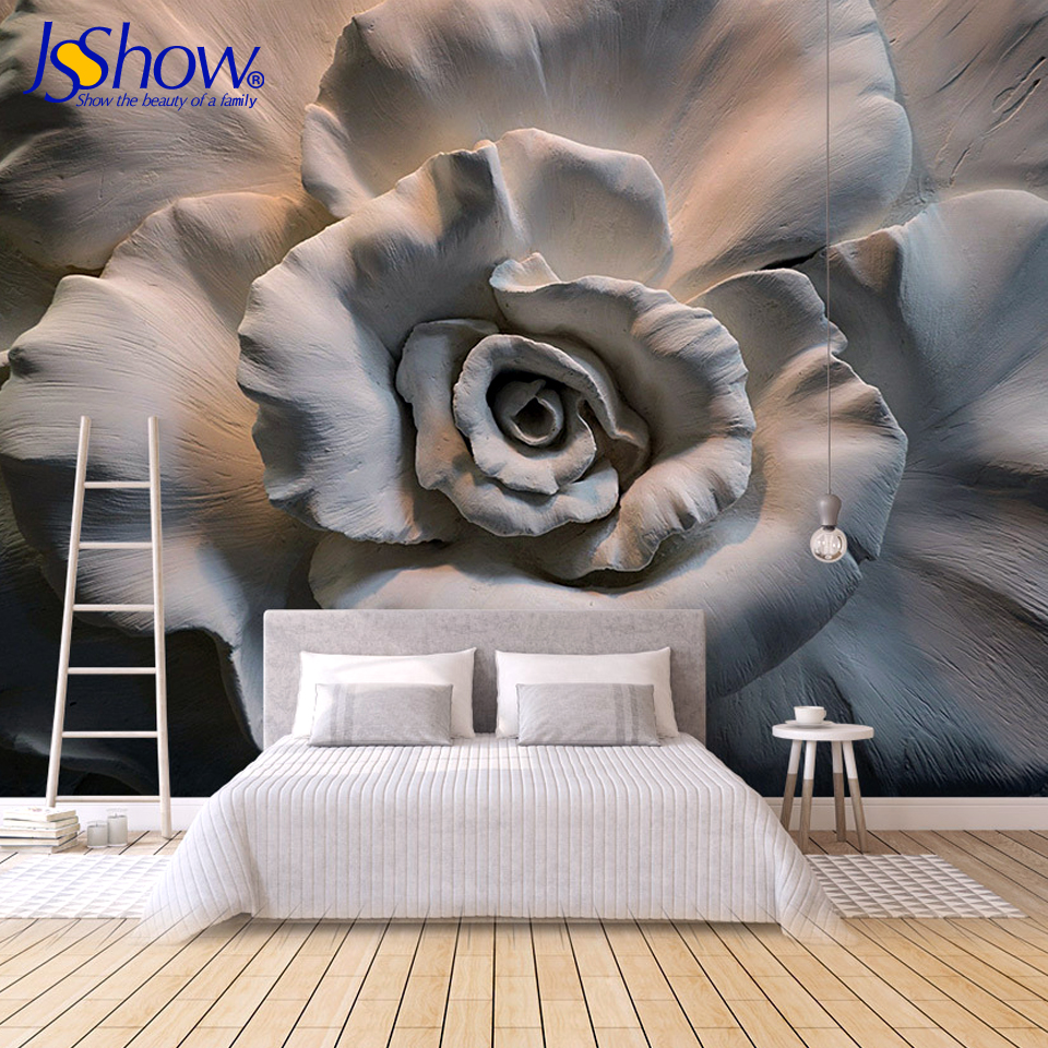 Jsshow custom 3d wallpaper photo wallpaper mural wallpapers for living room modern home improvement wall paper 3d wall murals home improvement decorative painting wallpaper for walls living room 3d non woven silk wallpapers 3d wall paper retro flowers