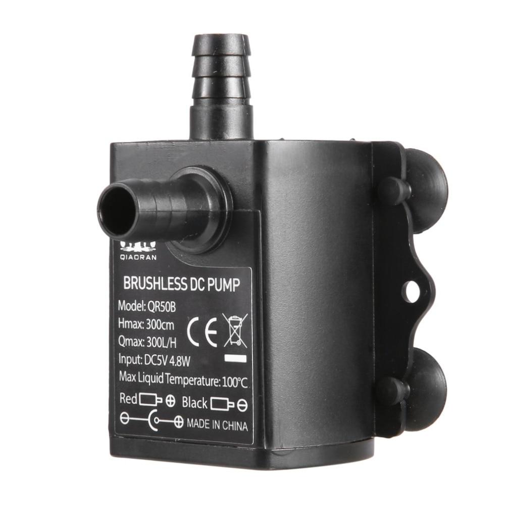 Mini Submersible Water Pump Aquarium Fountain Sump DC5V 4.8W 300L//H Lift 300cm