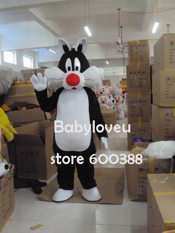 High quality Adult size Cartoon Sylvester cat Mascot Costume mascot cosplay halloween costume christmas Crazy Sale