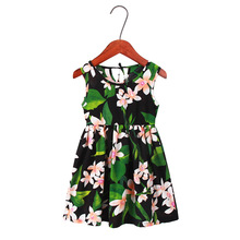 Summer Mother and Daughter Girl Floral Print Mini Dress