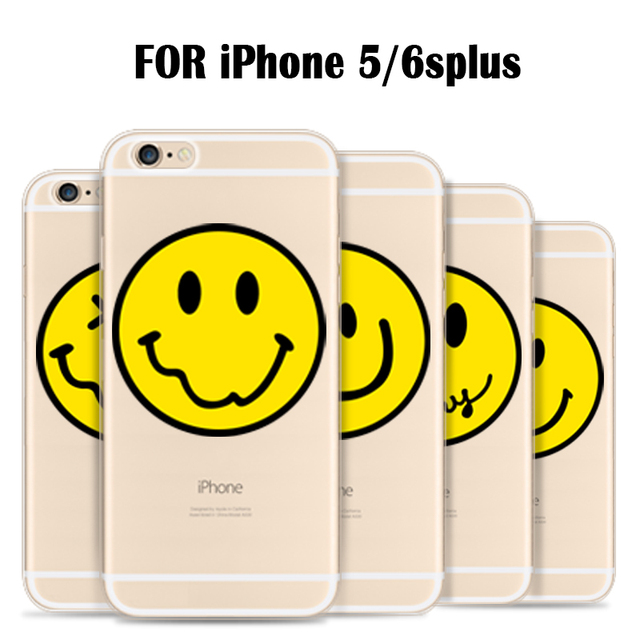 US $1 34 20% OFF Funky Design Emoji Smiley Emoticon For iPhone 5 5s SE 6 6s  6 plus 6s plus TPU Soft Phone Case Free Shipping-in Fitted Cases from