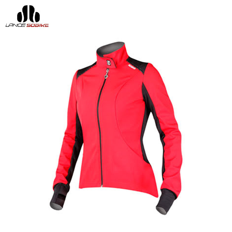 Lance Sobike Cycling Women's Fleece Thermal Long Jersey Winter Jacket Blue MTB ciclismo Windproof cycling Sport clothing Wear
