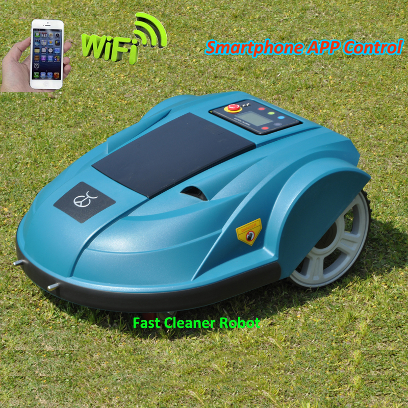Smartphone App WIFI Wireless Remote Control Lawn Mower Robot with Water-proofed Charger (No Custom Taxes For SG,KR,VN,TH Buyer) newest wifi app smartphone wireless remote control lawn mower robot with water proofed charger range subarea compass functions